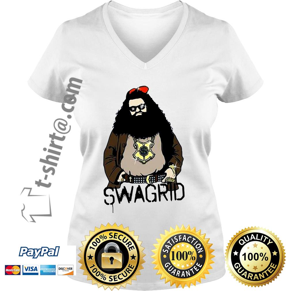 Harry Potter Swag Rubeus Hagrid Swagrid V-neck T-shirt