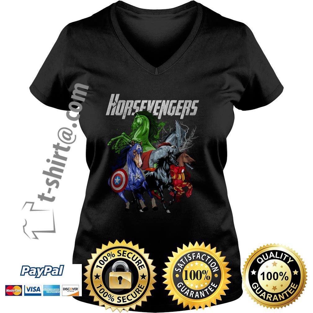 Horsevengers V-neck T-shirt