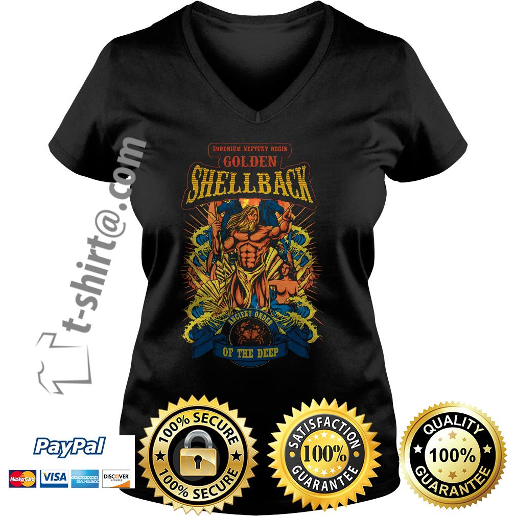 Imperium Neftunt Regis golden shellback ancient order of the deep V-neck T-shirt