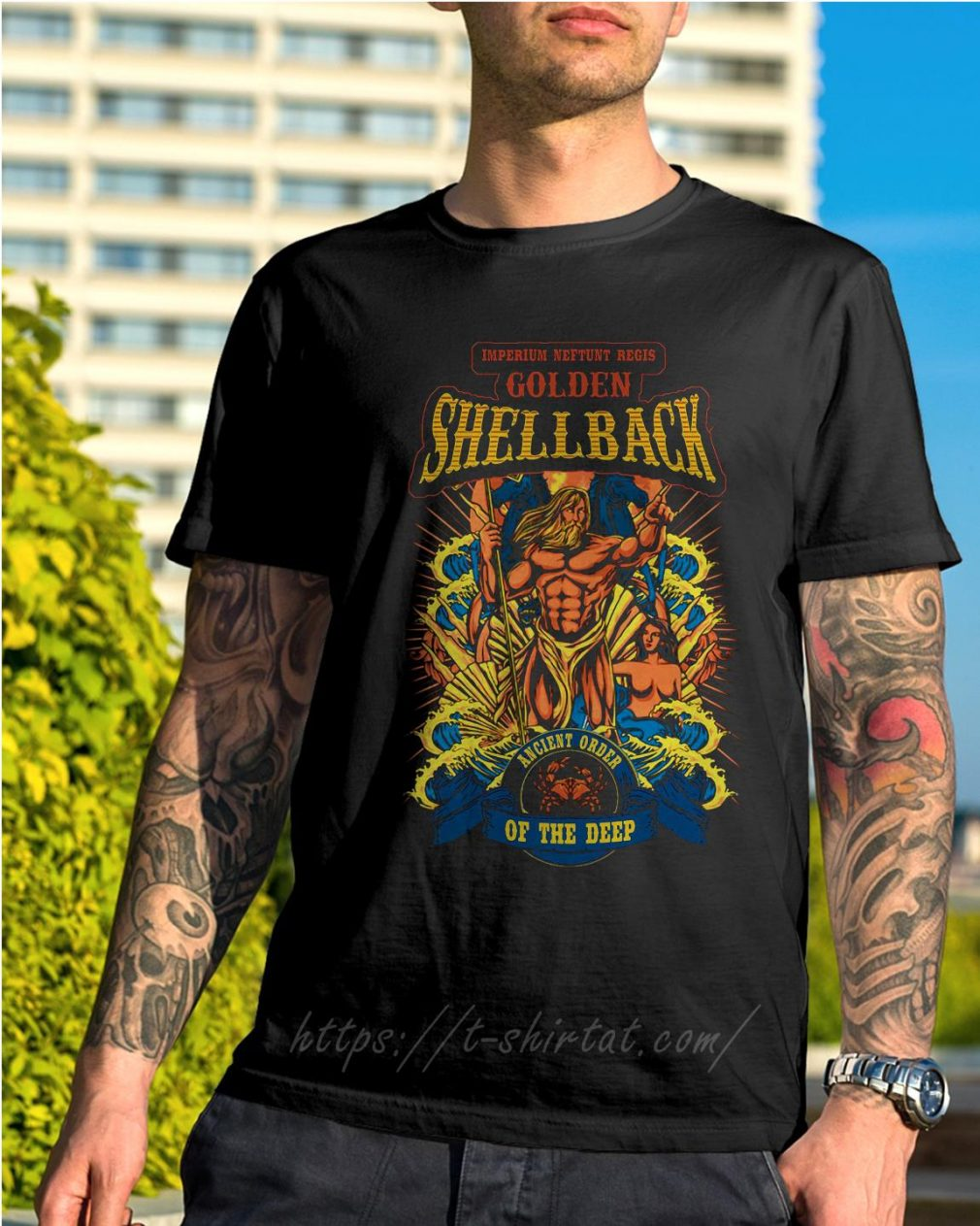 Imperium Neftunt Regis golden shellback ancient order of the deep shirt