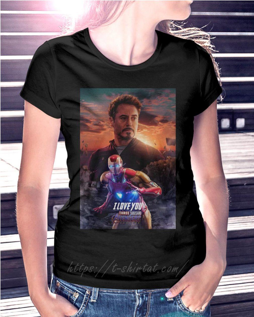 Iron man I love you three thousand Avengers endgame
