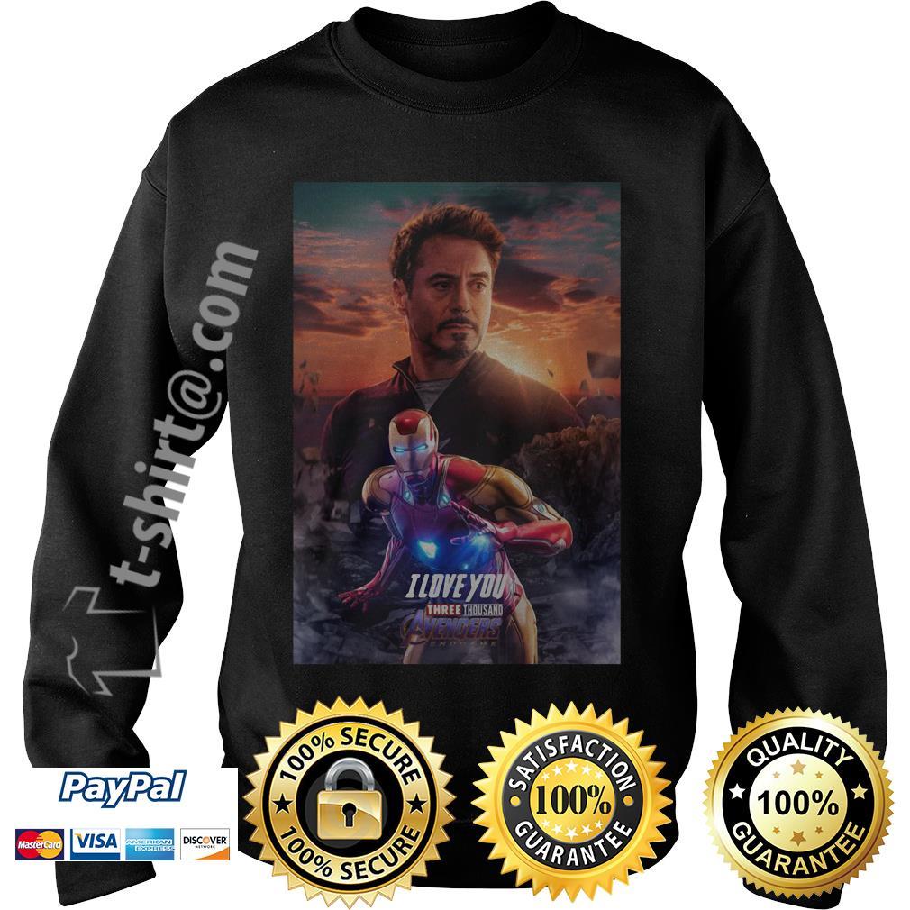 Iron man I love you three thousand Avengers endgame Sweater