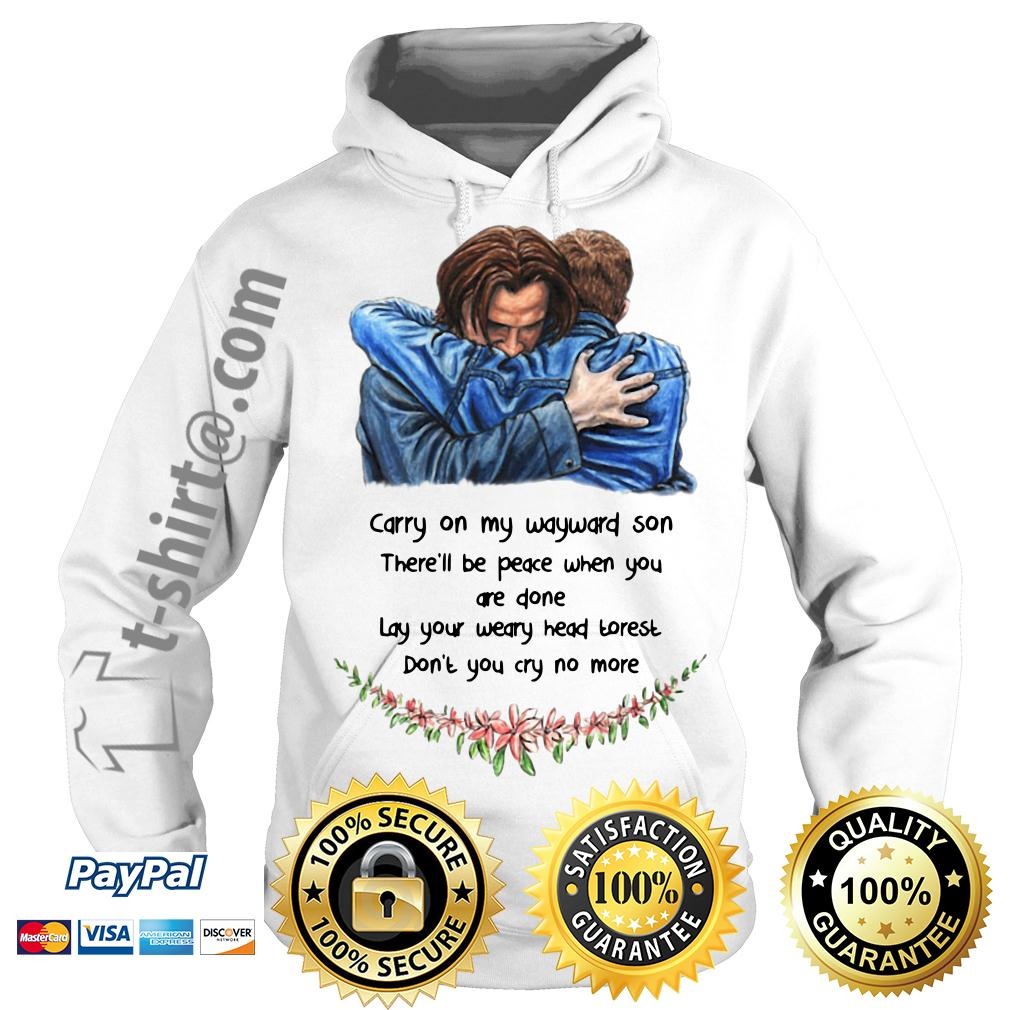 Jared Padalecki carry on my wayward son there'll be peace when you done Hoodie