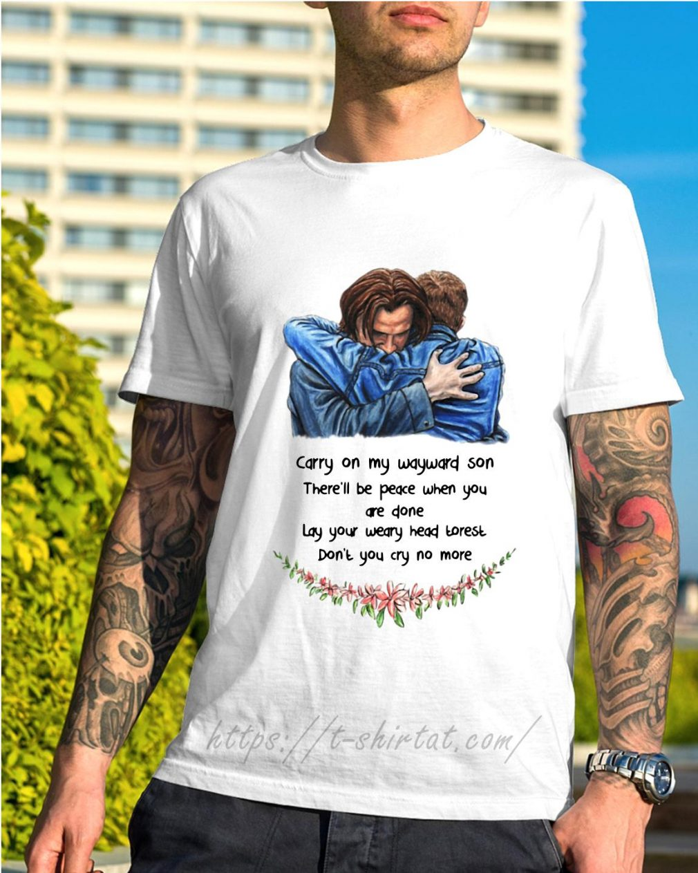 Jared Padalecki carry on my wayward son there'll be peace when you done shirt