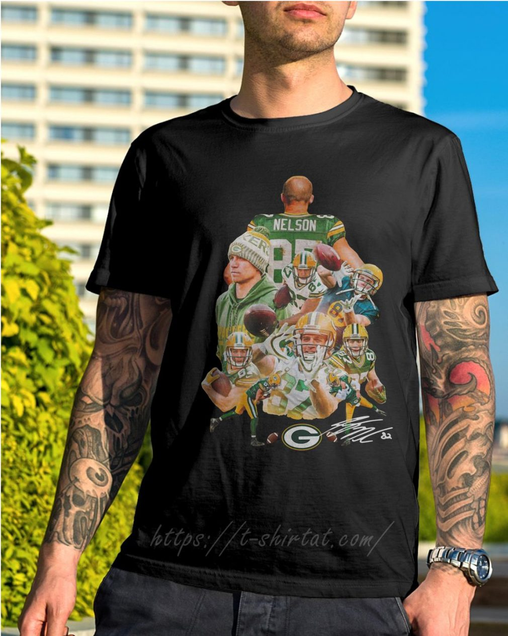 Jordy Nelson Green Bay Packers signature shirt