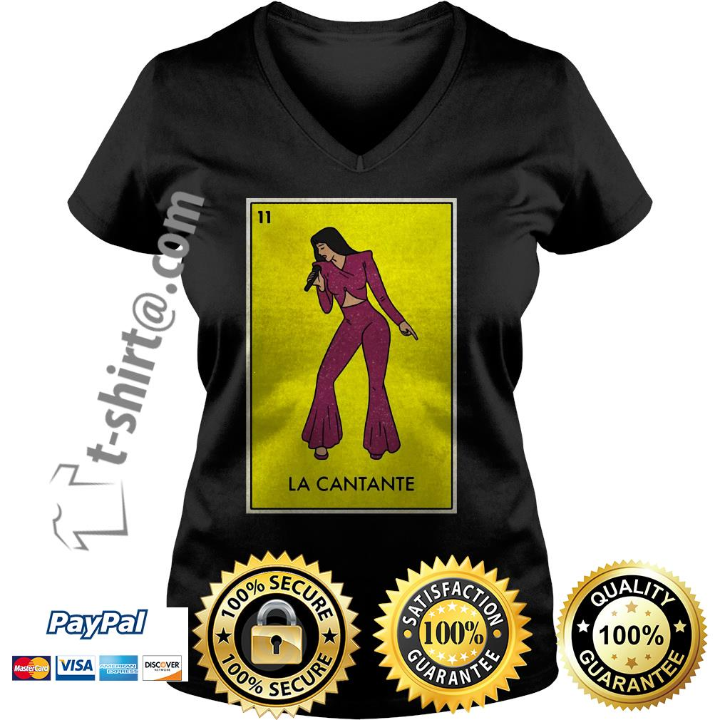 La Cantante Mexican Loteria card V-neck T-shirt
