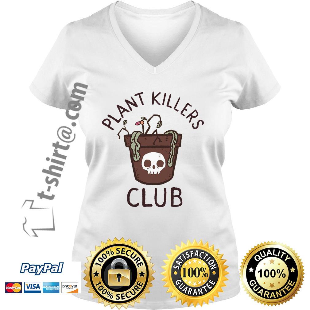 lxromero plant killers club V-neck T-shirt