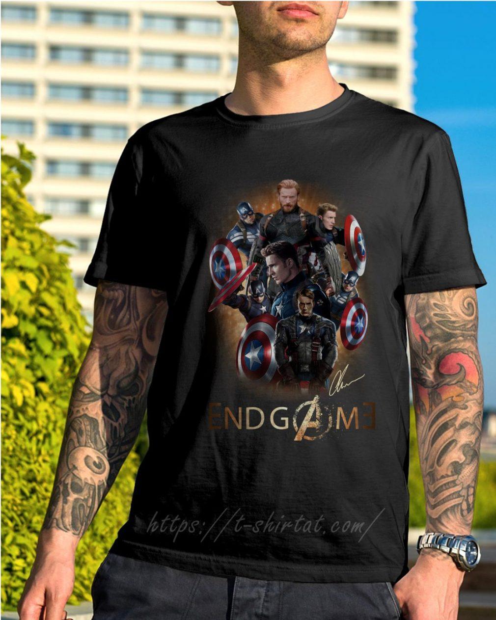 Marvel Avenger endgame Chris Evans signature shirt
