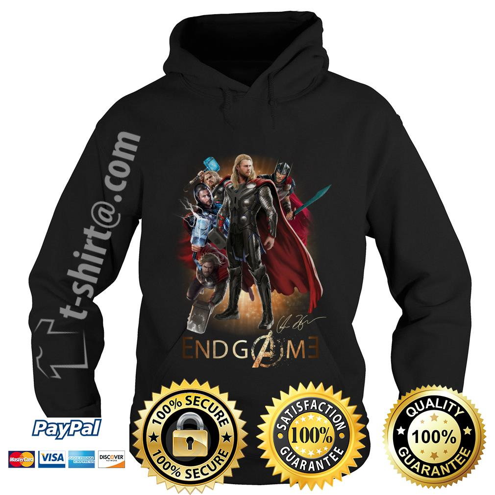 Marvel Avenger endgame Chris Hemsworth signature Hoodie