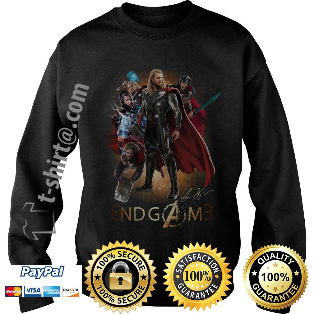Marvel Avenger endgame Chris Hemsworth signature Sweater