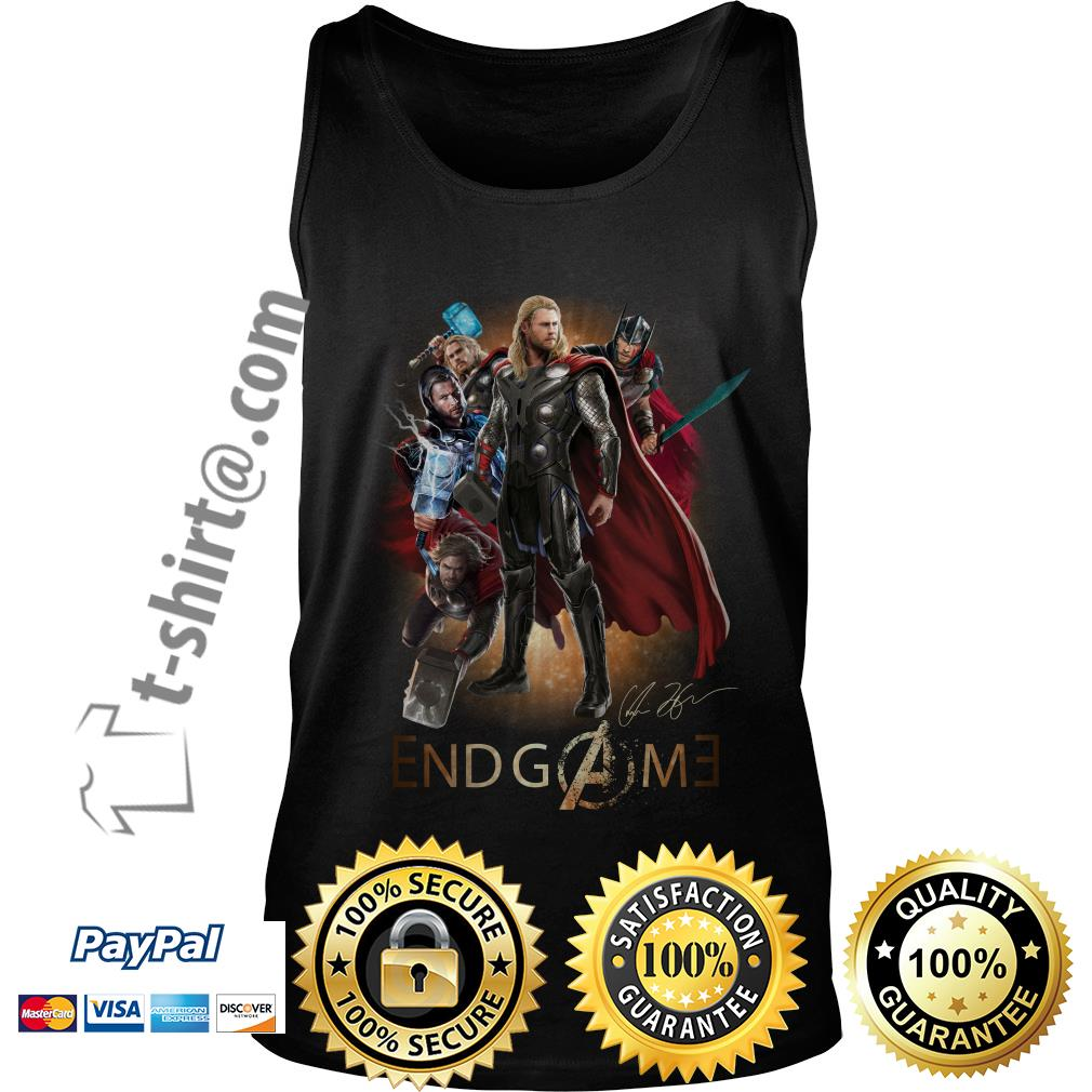 Marvel Avenger endgame Chris Hemsworth signature Tank top