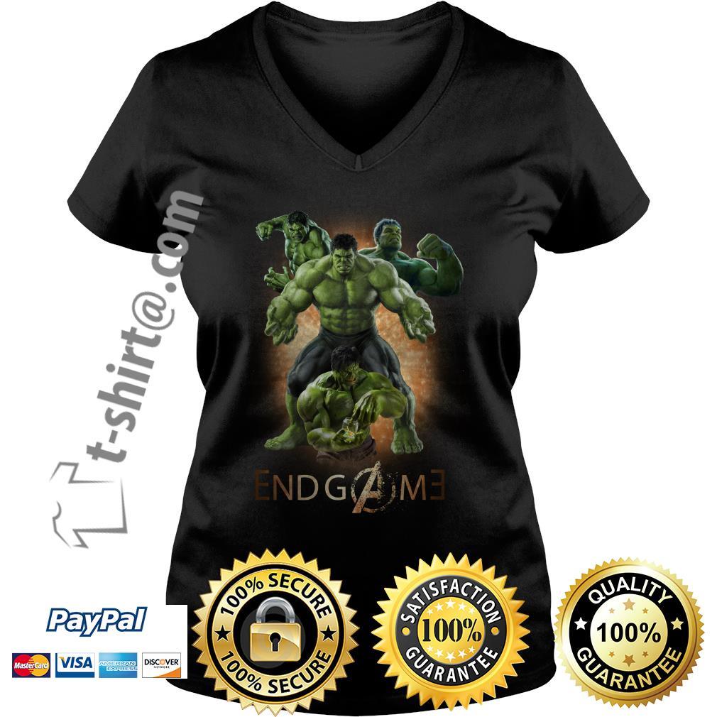 Marvel Avenger endgame Hulk poster V-neck T-shirt