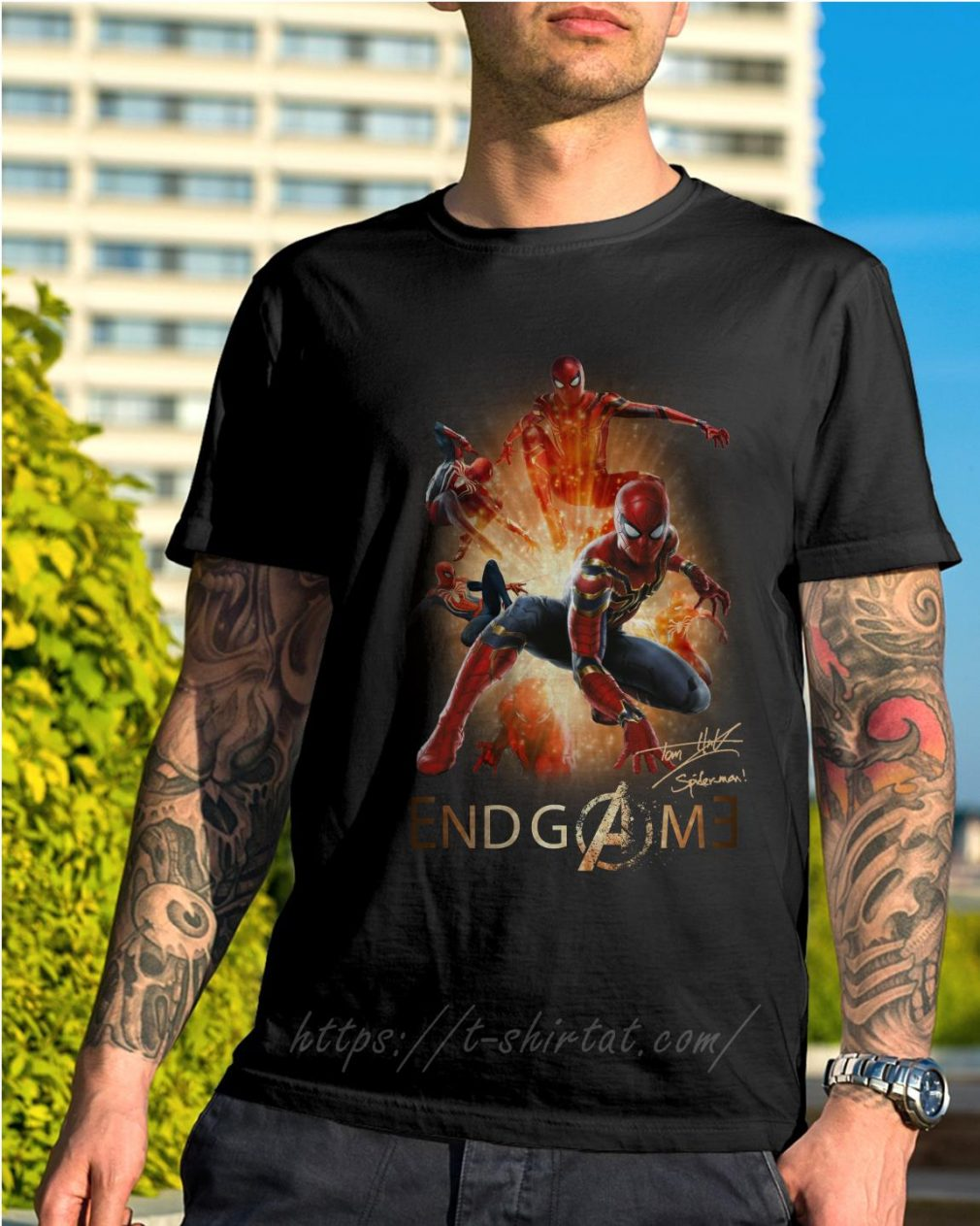 Marvel Avenger endgame Tom Holland signature shirt