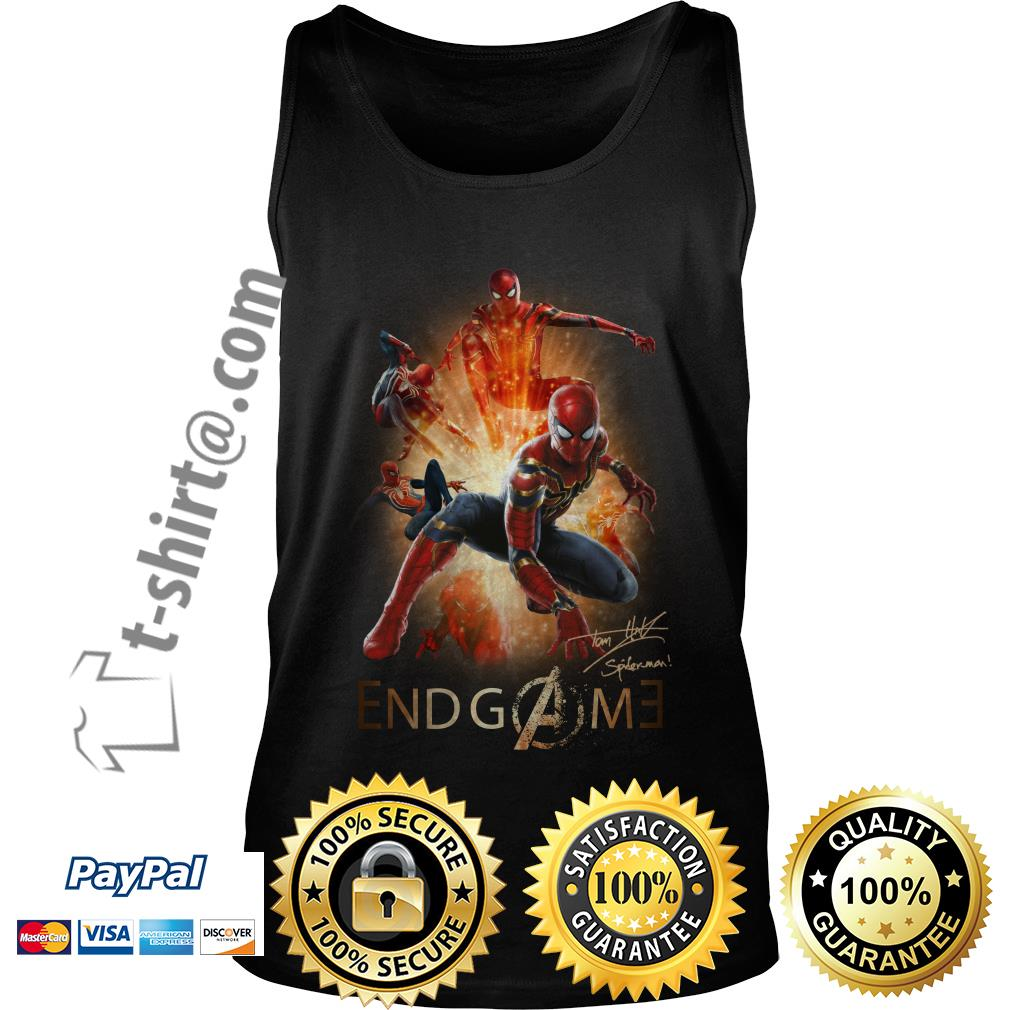 Marvel Avenger endgame Tom Holland signature Tank top