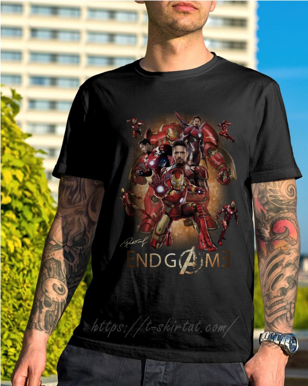 Marvel Avenger endgame Tony Stark signature shirt