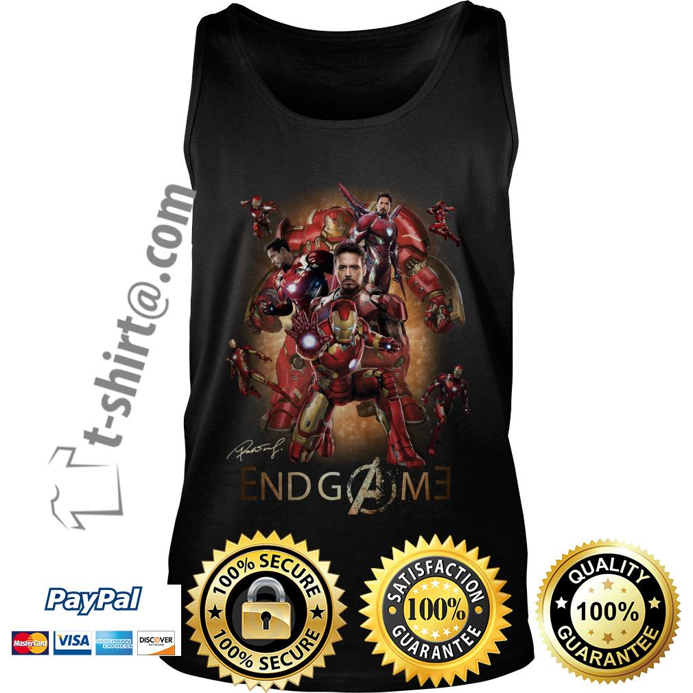 Marvel Avenger endgame Tony Stark signature Tank top