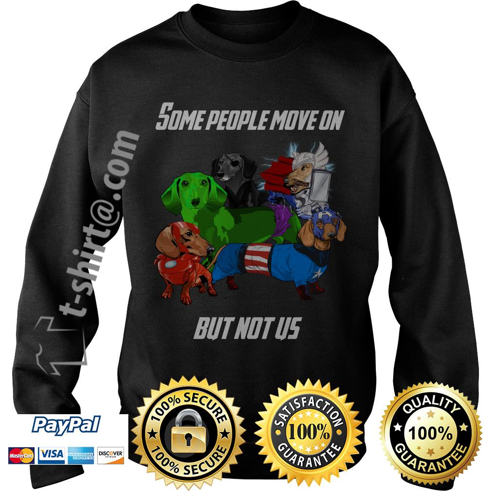 Marvel Avengers endgame Dachshund some people move on but not us Sweater