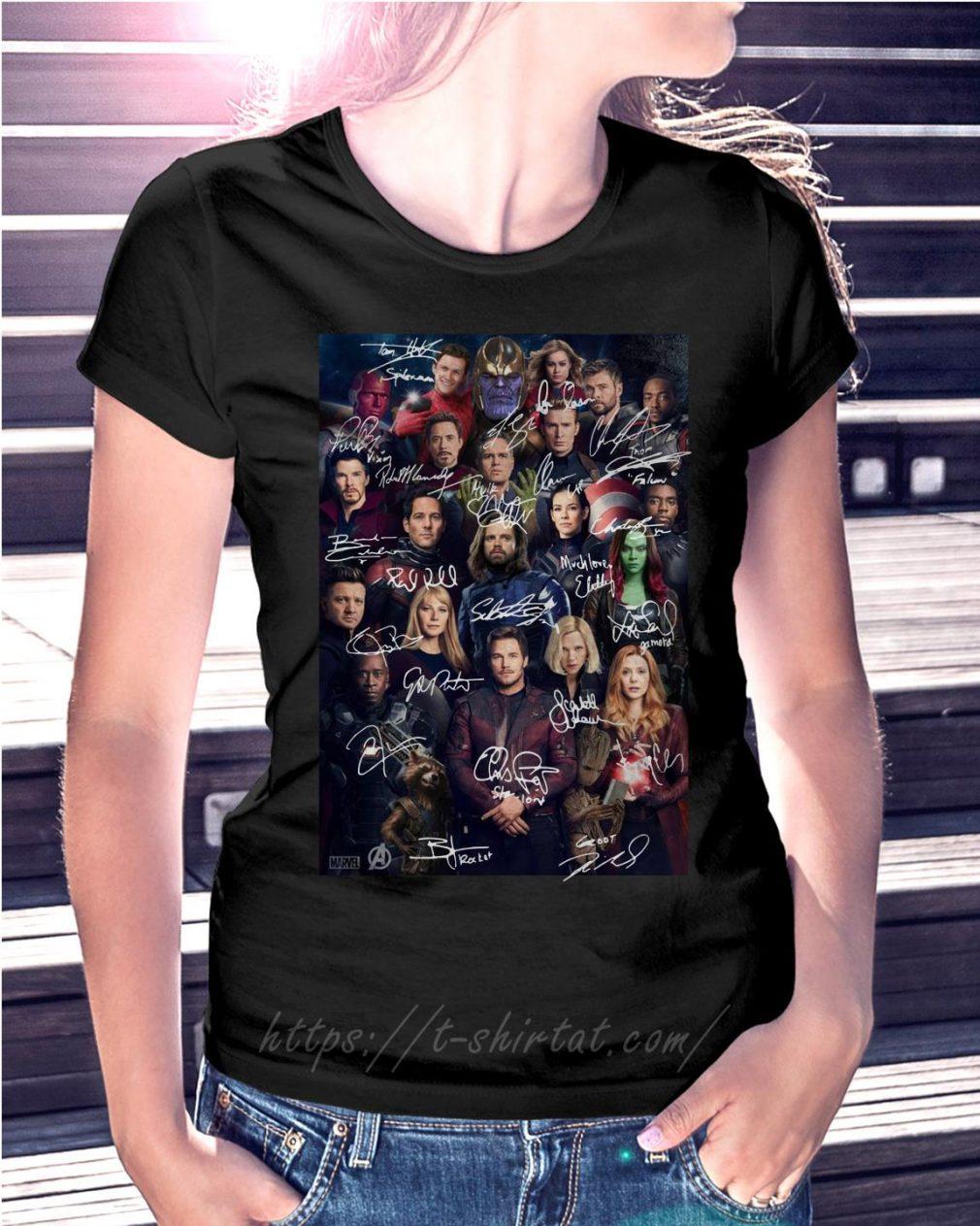 Marvel Avengers endgame poster signature