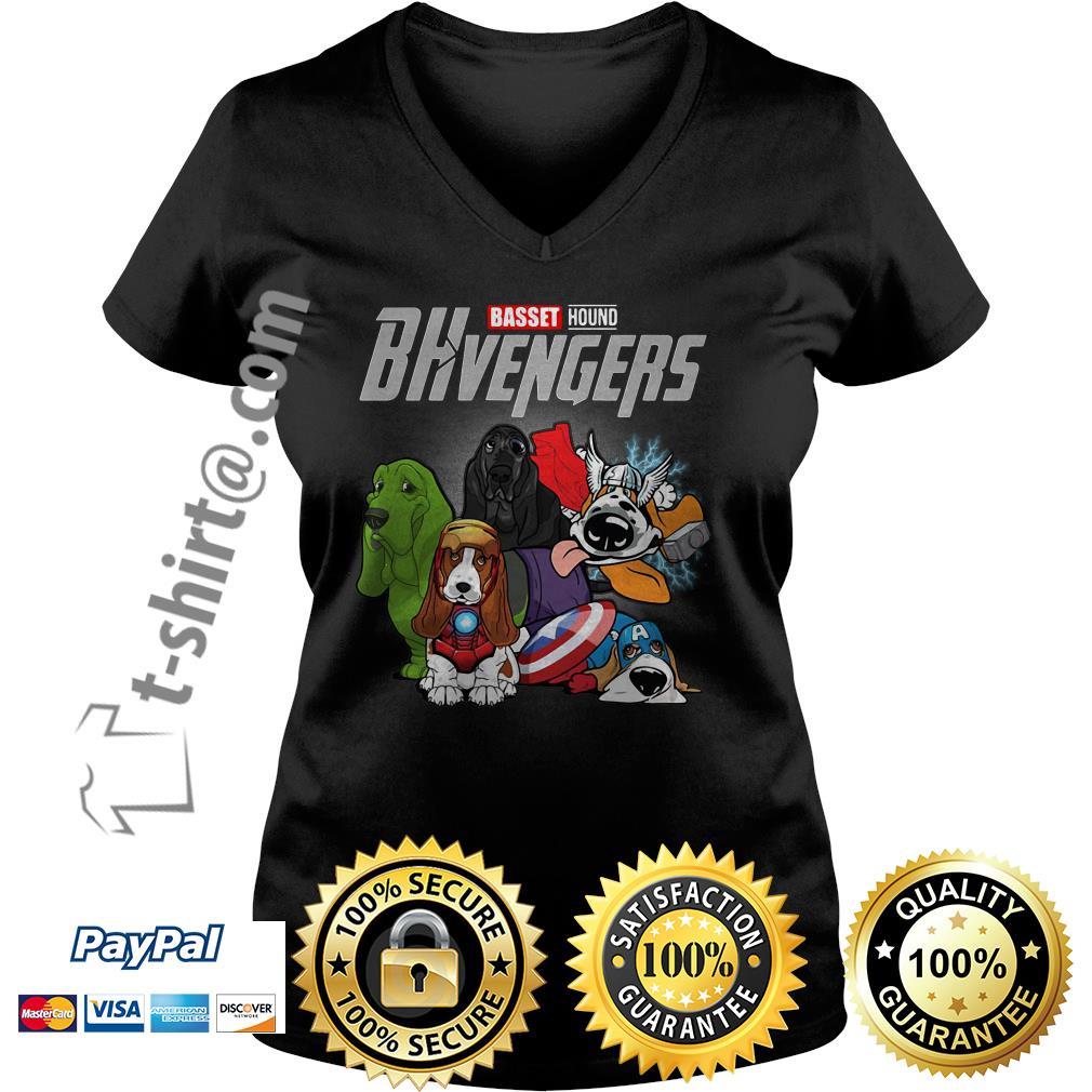 Marvel Basset hound BHvengers V-neck T-shirt