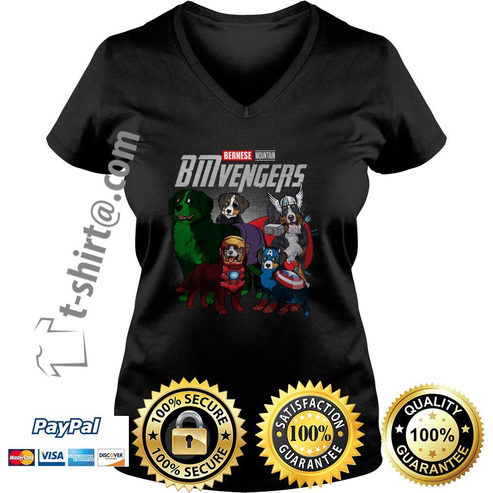 Marvel Bernese Mountain BMvengers V-neck T-shirt