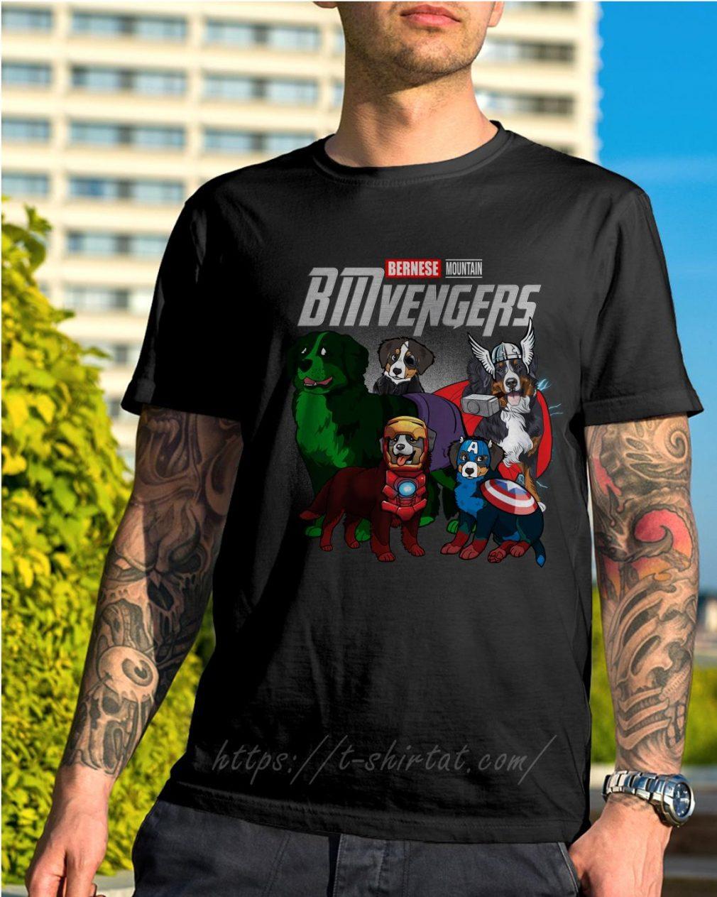 Marvel Bernese Mountain BMvengers shirt