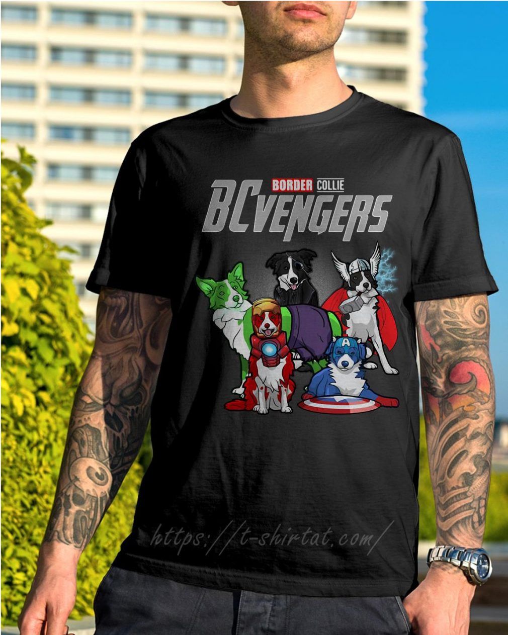 Marvel Border Collie BCvengers shirt