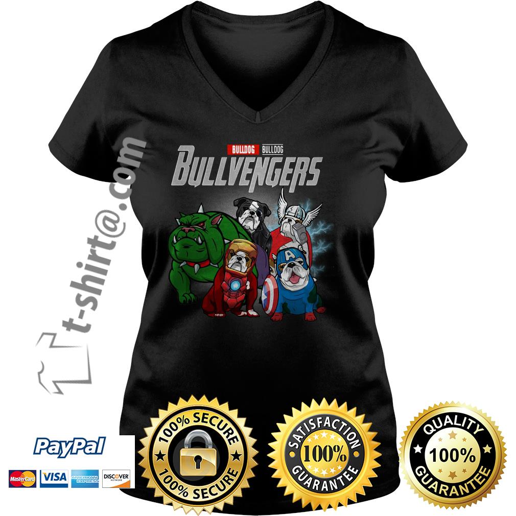 Marvel Bulldog Bullvengers V-neck T-shirt