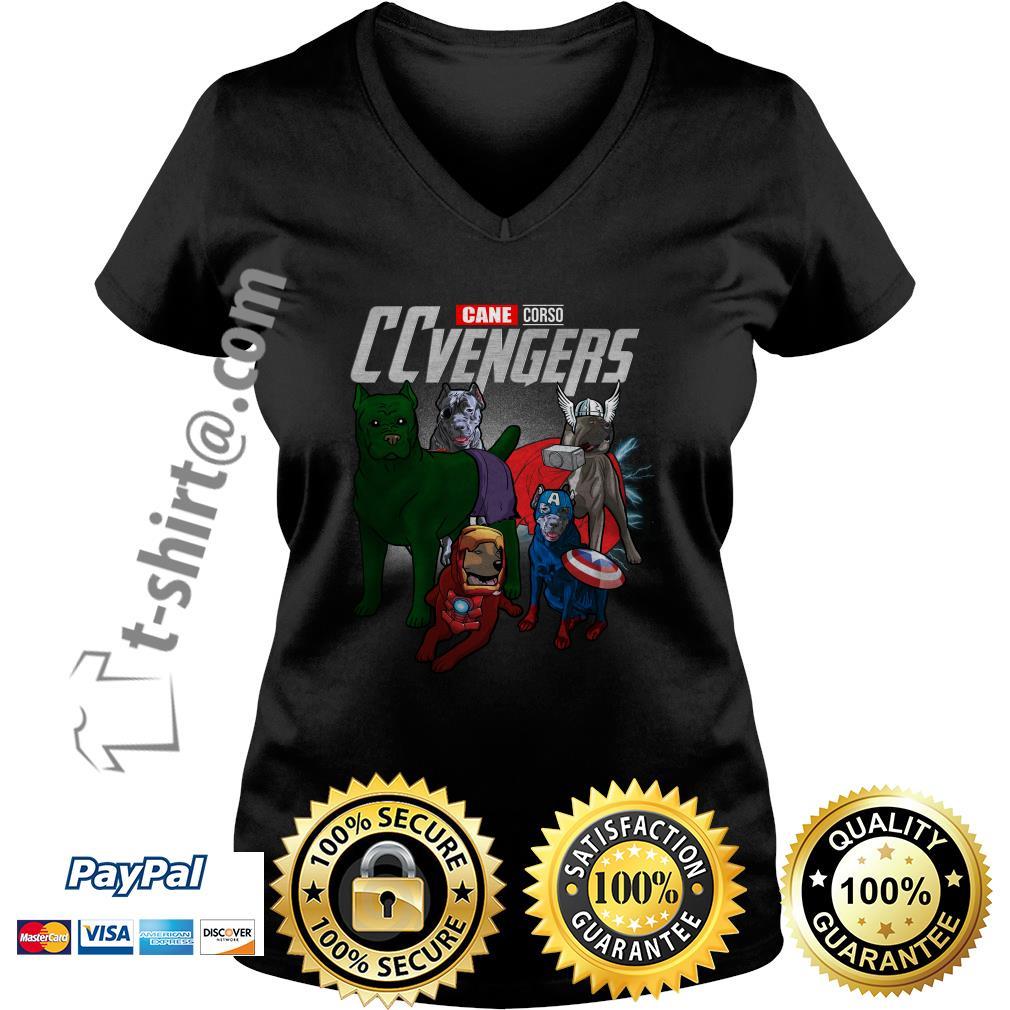 Marvel Cane Corso CCvengers V-neck T-shirt