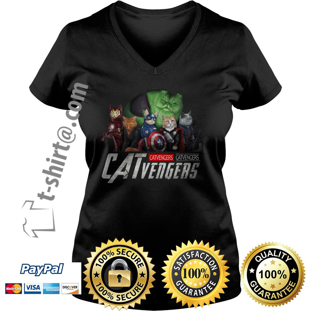Marvel Catvengers V-neck T-shirt