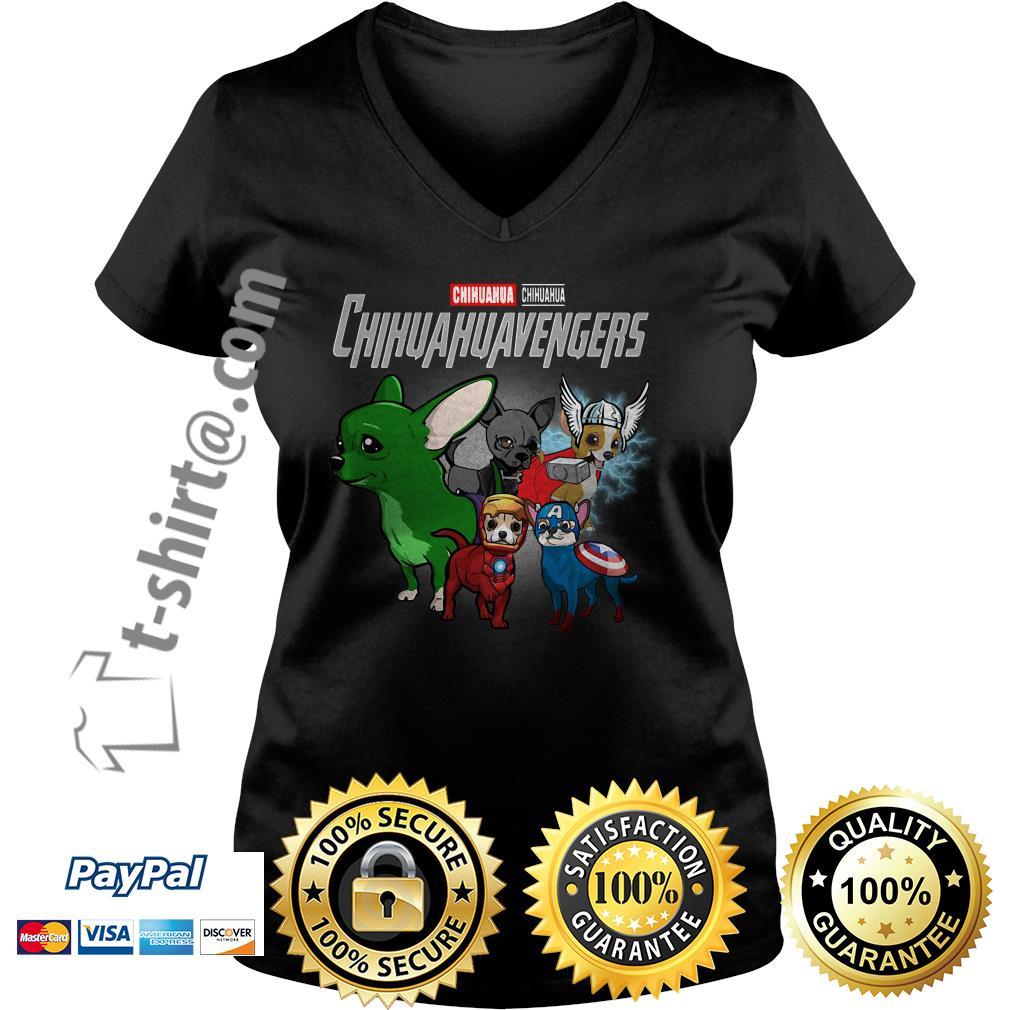 Marvel Chihuahua Chihuahuavengers V-neck T-shirt
