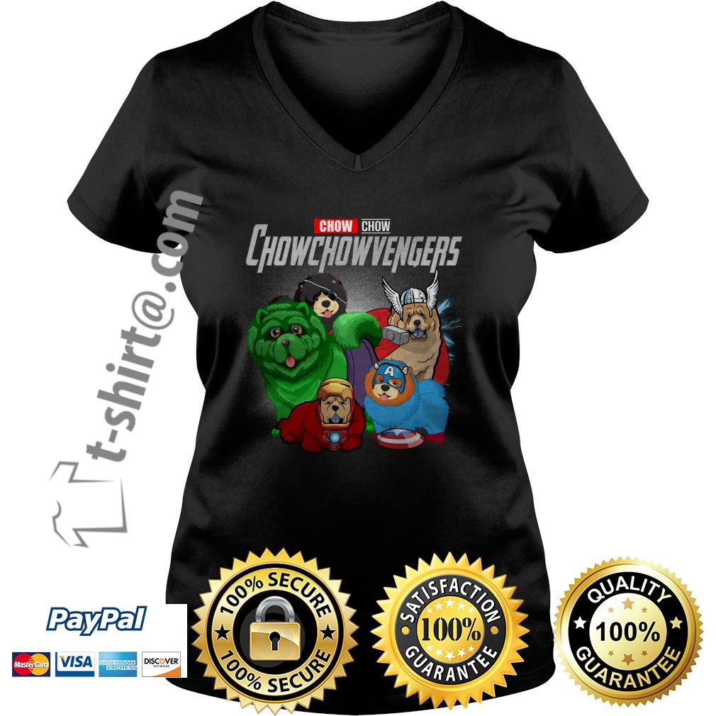 Marvel Chow Chow Chowchowvengers V-neck T-shirt