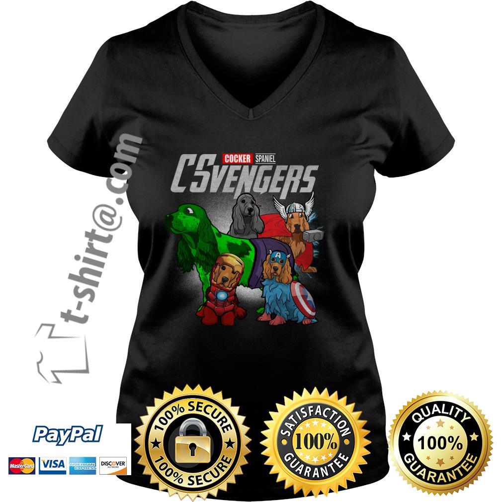 Marvel Cocker Spaniel CSvengers V-neck T-shirt