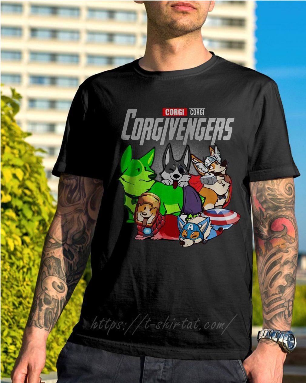 Marvel corgi Corgivengers shirt