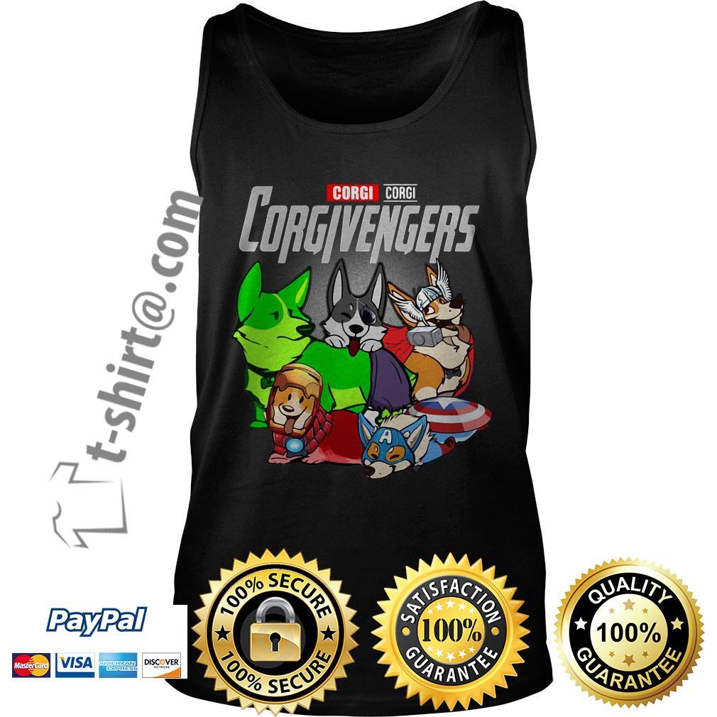 Marvel corgi Corgivengers Tank top