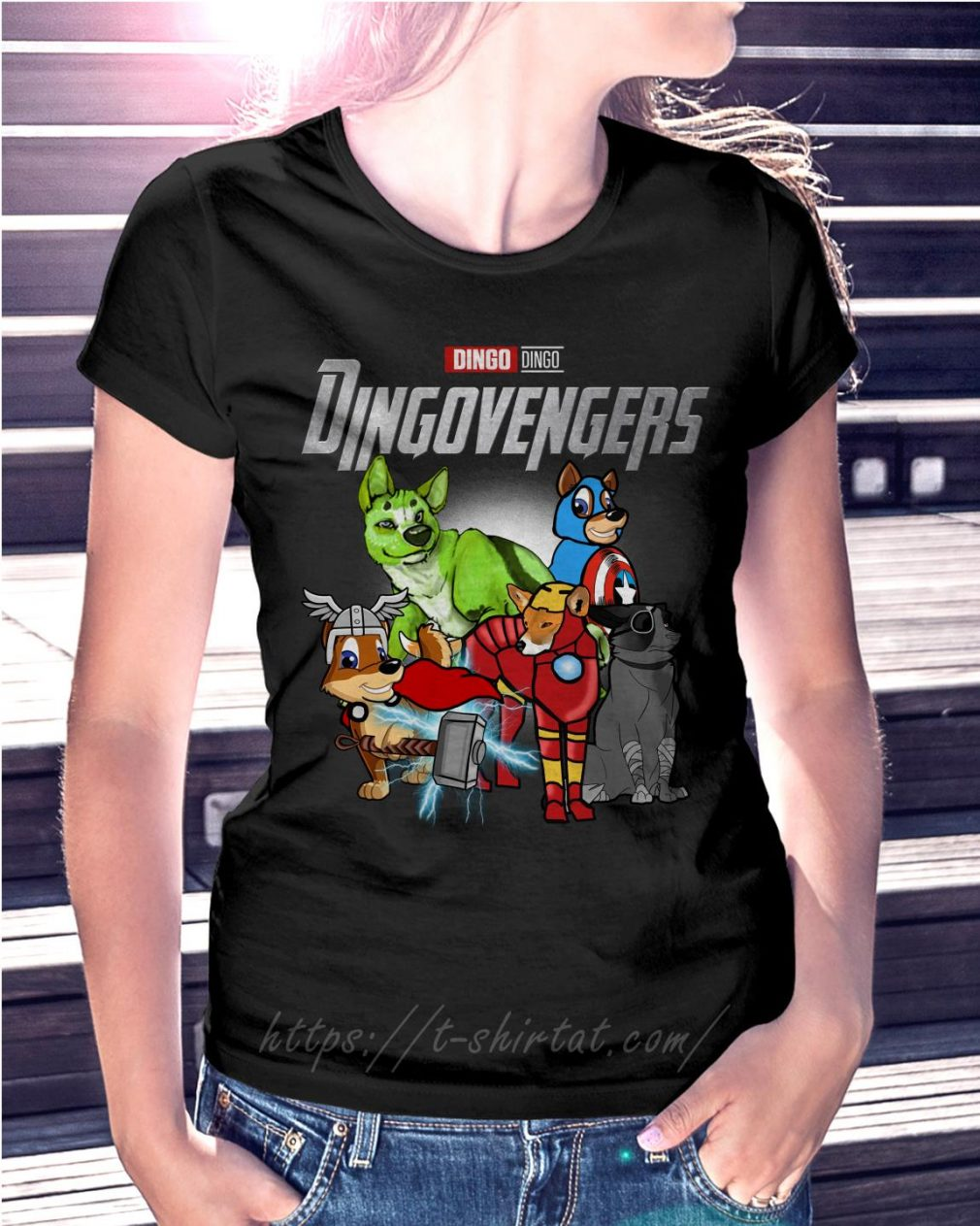 Marvel Dingo Dingovengers Ladies Tee