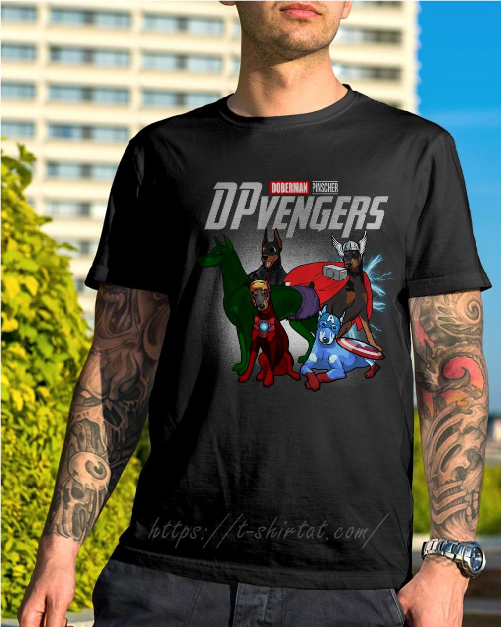 Marvel Doberman Pinscher DPvengers shirt