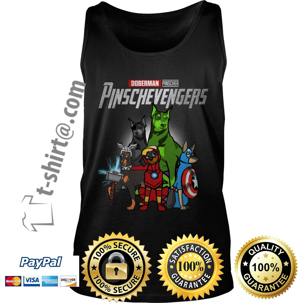 Marvel Doberman Pinscher Pinschevengers Tank top