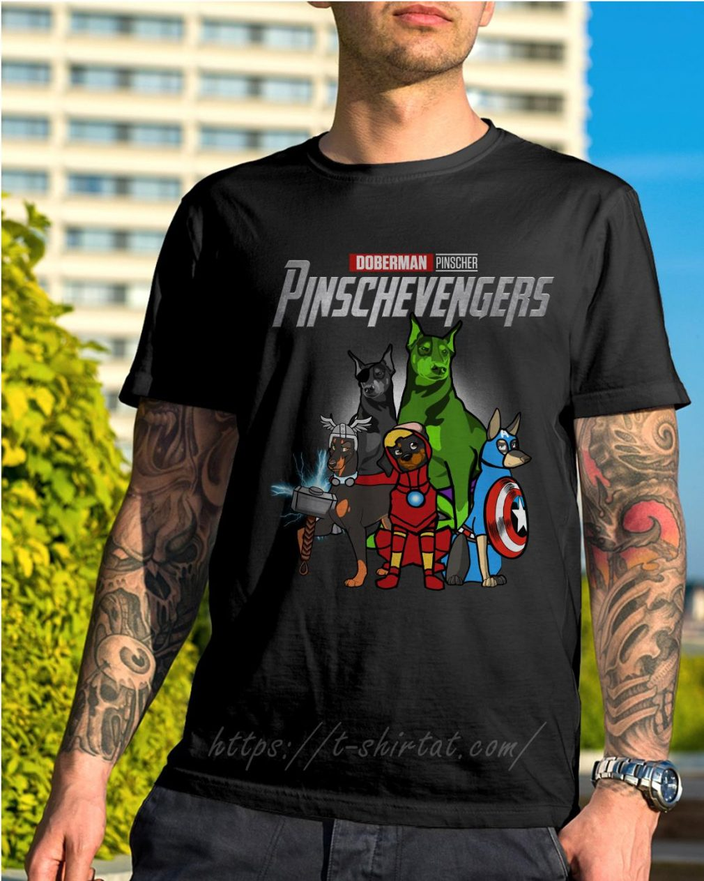 Marvel Doberman Pinscher Pinschevengers shirt