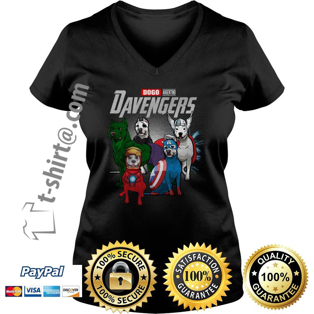 Marvel Dogo Argentino DAvengers V-neck T-shirt