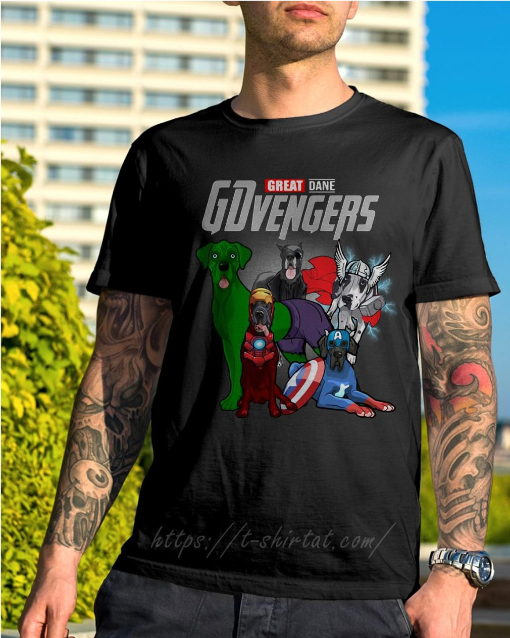 Marvel Great Dane GDvengers shirt