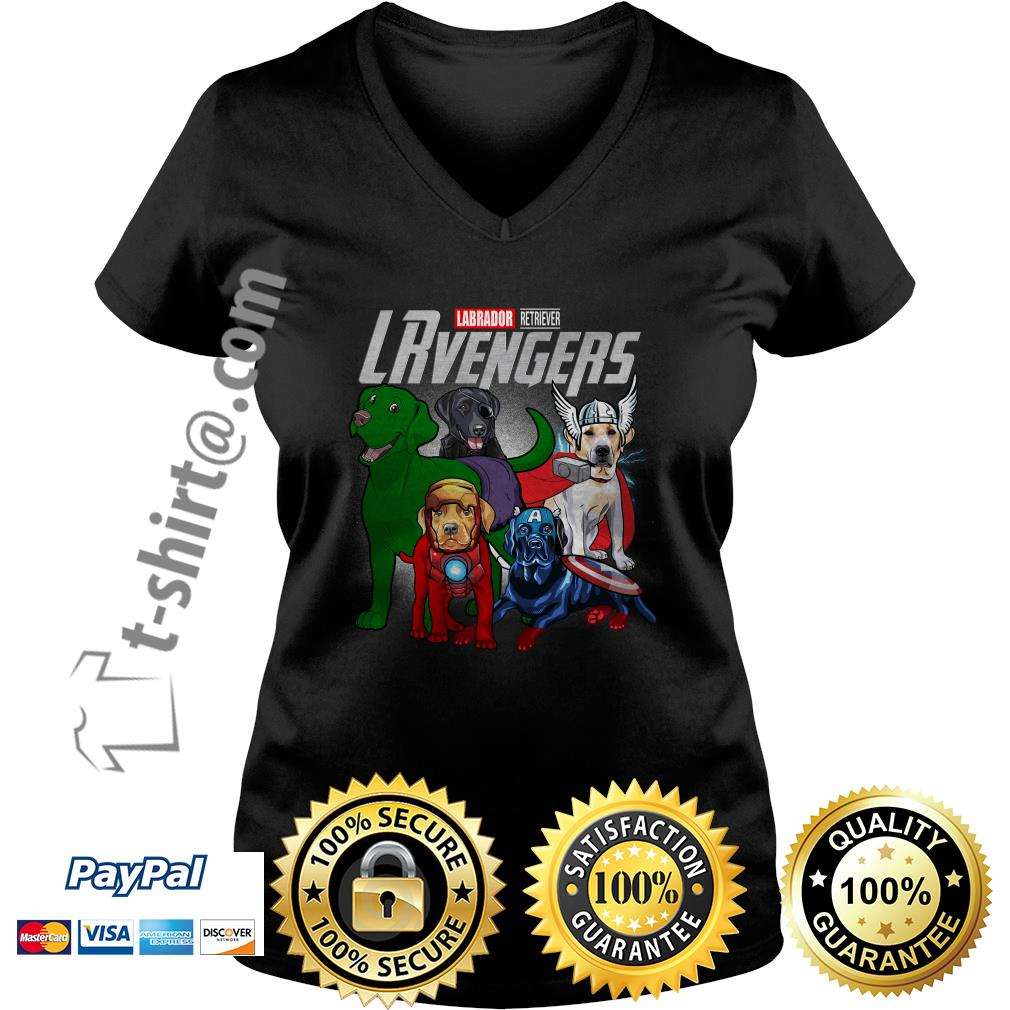 Marvel Labrador Retriever LRvengers V-neck T-shirt