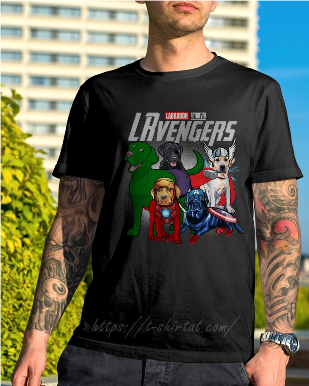 Marvel Labrador Retriever LRvengers shirt