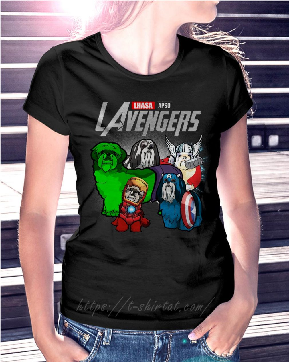 Marvel Lhasa Apso LAvengers Ladies Tee