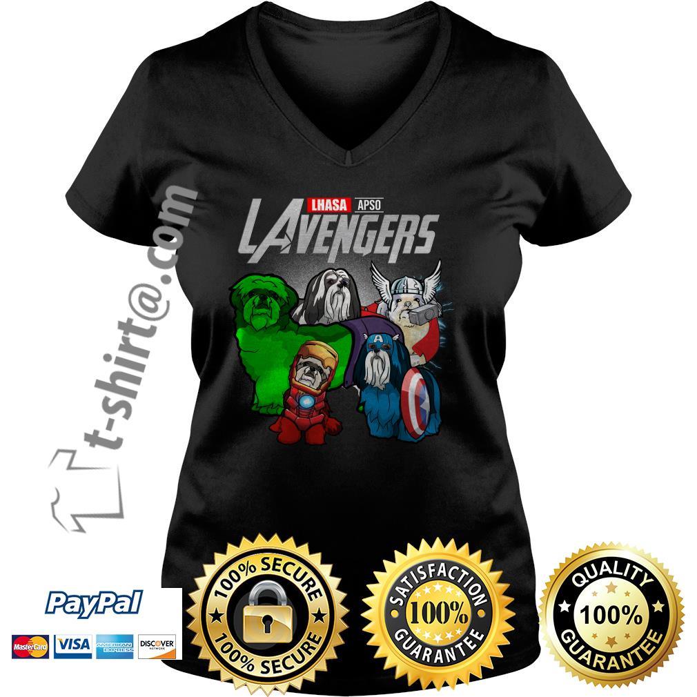 Marvel Lhasa Apso LAvengers V-neck T-shirt