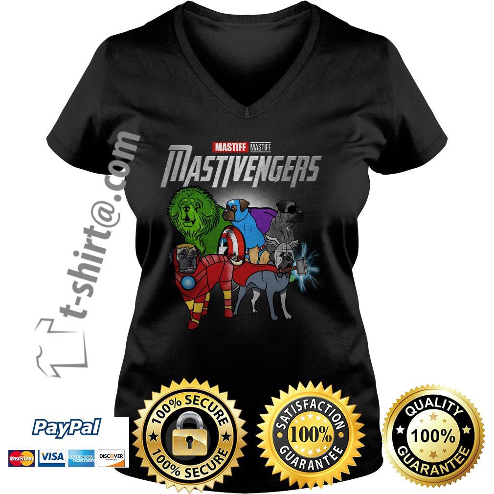 Marvel Mastiff Mastivengers V-neck T-shirt