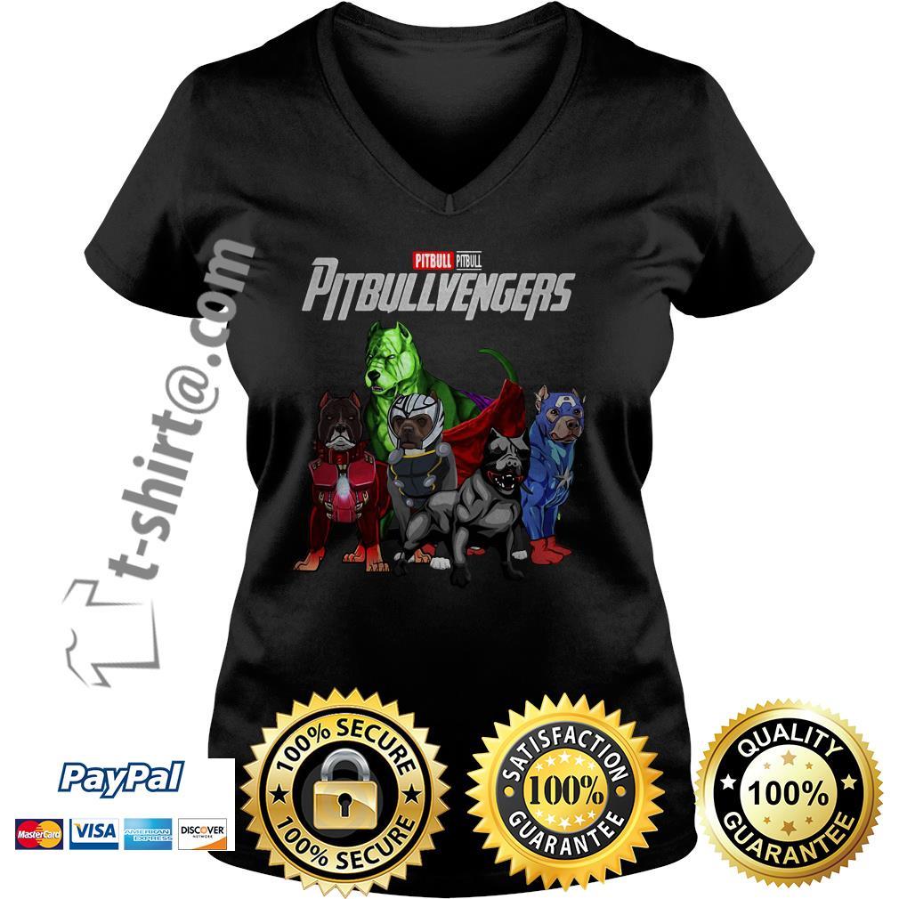 Marvel pitbull Pitbullvengers V-neck T-shirt