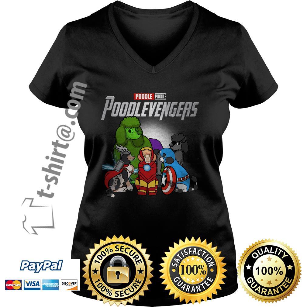 Marvel Poodle Poodlevengers V-neck T-shirt