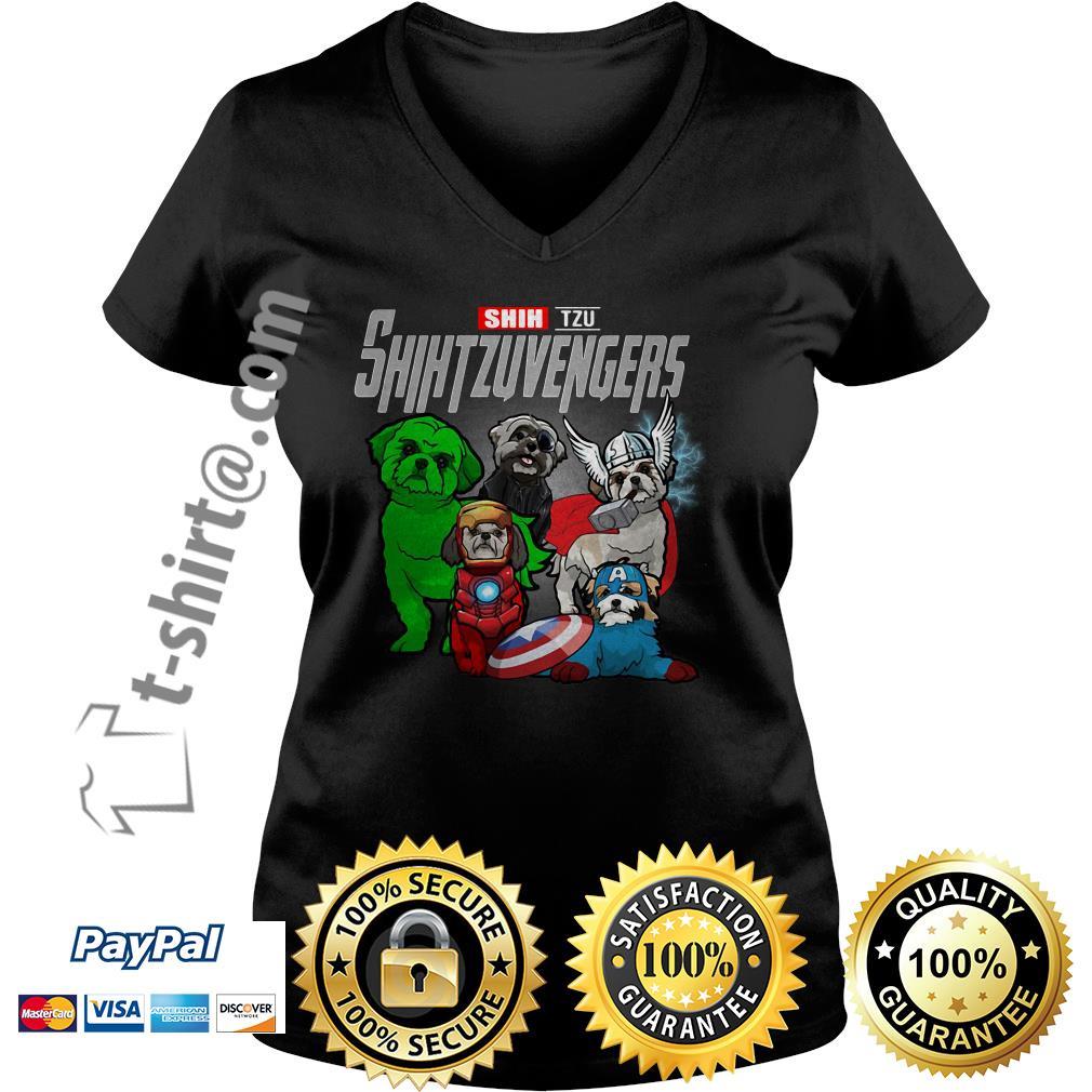 Marvel Shih Tzu Shihtzuvengers V-neck T-shirt