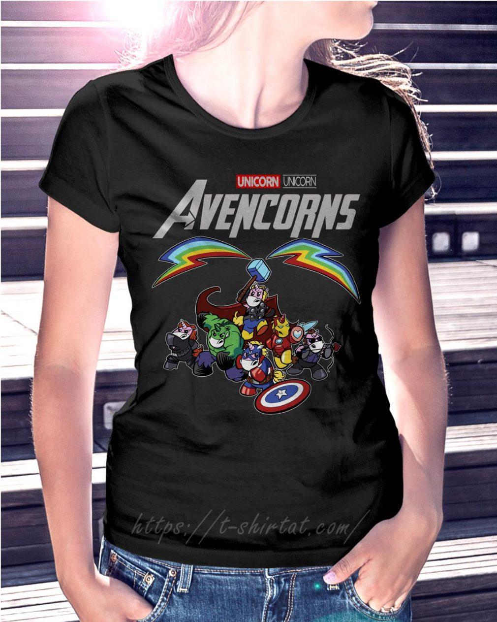 Marvel Unicorn Avencorns Ladies Tee