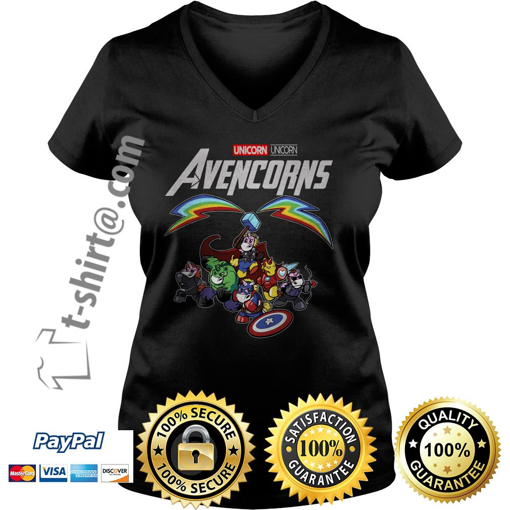 Marvel Unicorn Avencorns V-neck T-shirt